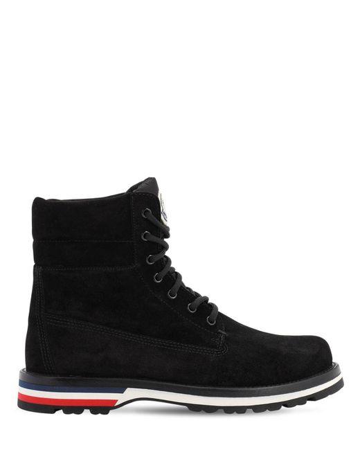 Moncler Black Vancouver Stivale Suede Boots for men