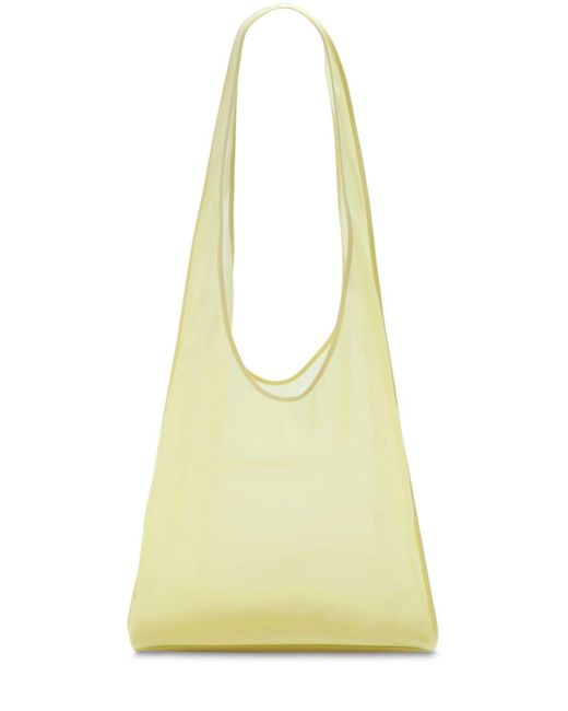 The Row Bindle Mache レザートートバッグ Yellow