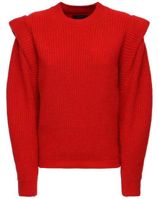 Isabel Marant Bolton ウール&カシミアニットセーター Red