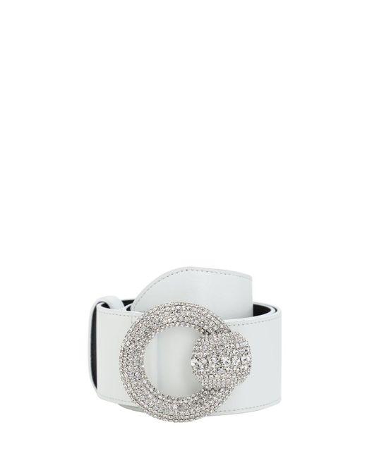 Alessandra Rich レザーベルト 60mm White