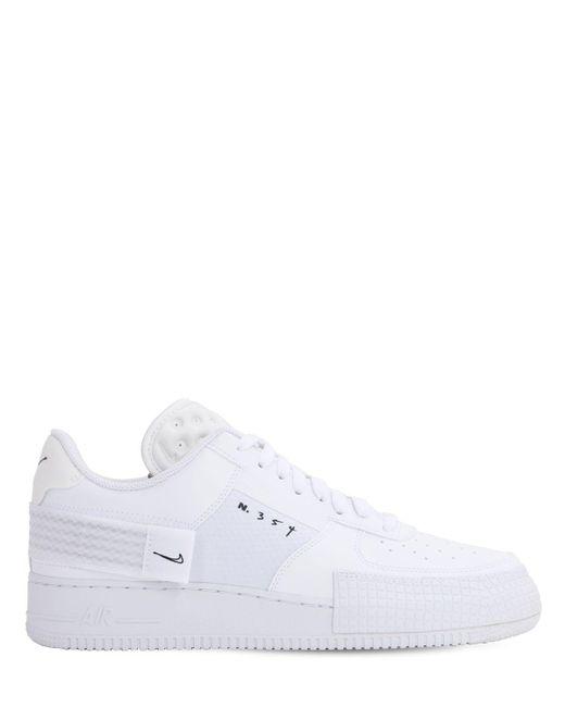メンズ Nike Af1-type スニーカー White