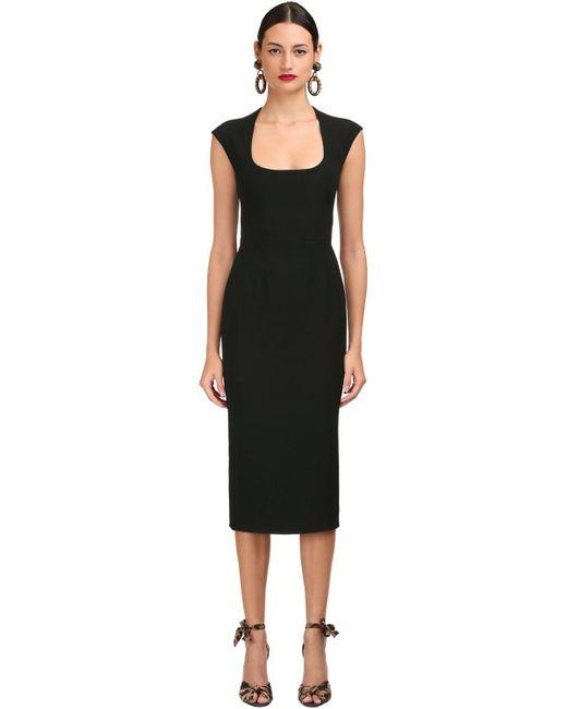 Dolce & Gabbana ストレッチカディペンシルドレス Black