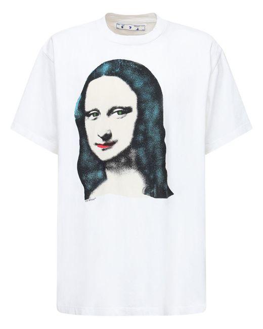 Off-White c/o Virgil Abloh White Monalisa T-shirt for men