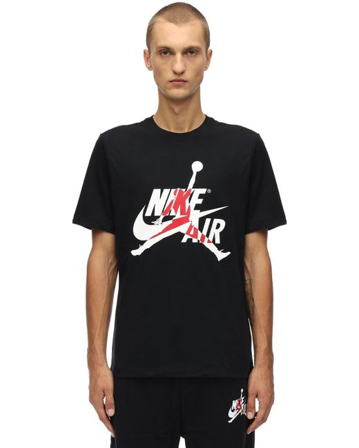メンズ Nike Jm Classics Ss Crew Tシャツ Black