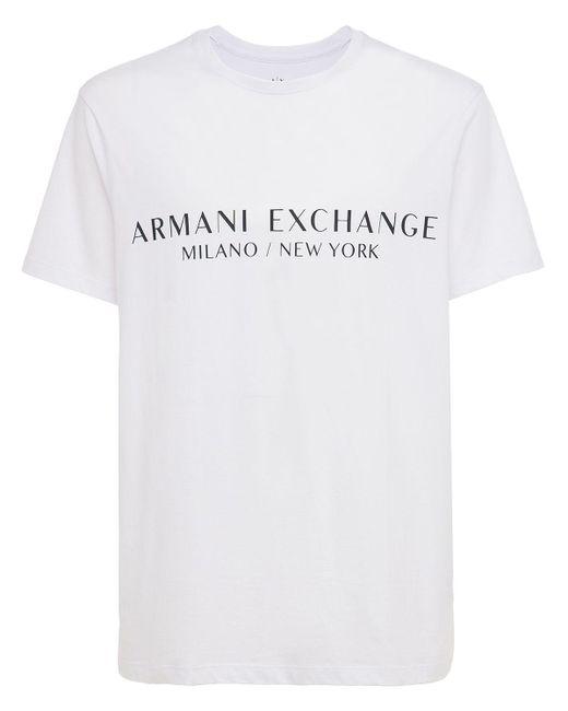 メンズ Armani Exchange コットンtシャツ White
