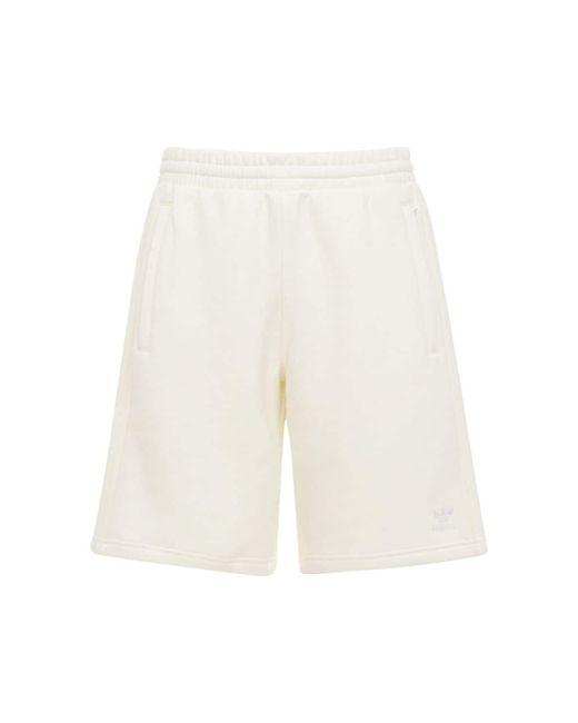 メンズ Adidas Originals 3-stripes コットンスウェットハーフパンツ White