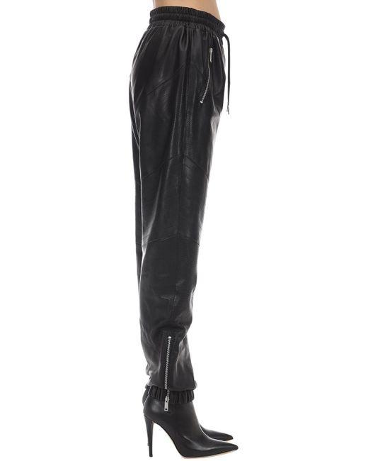 Givenchy Black Jogginghose Aus Nappaleder