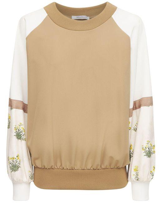 Max Mara ストレッチジャージースウェットシャツ Natural