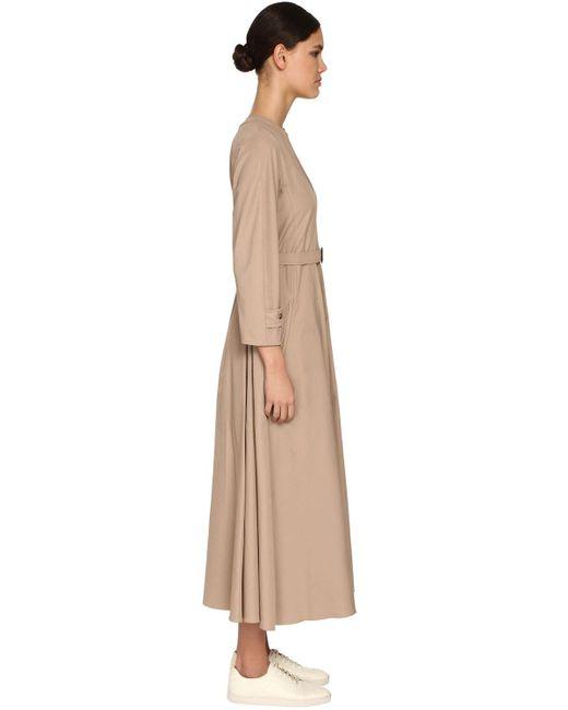 Max Mara コットンナイロンキャンバスドレス Natural