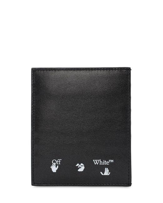 Porte-cartes En Cuir Avec Logo Off-White c/o Virgil Abloh pour homme en coloris Black