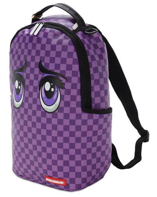 メンズ Sprayground Animeyes バックパック Purple