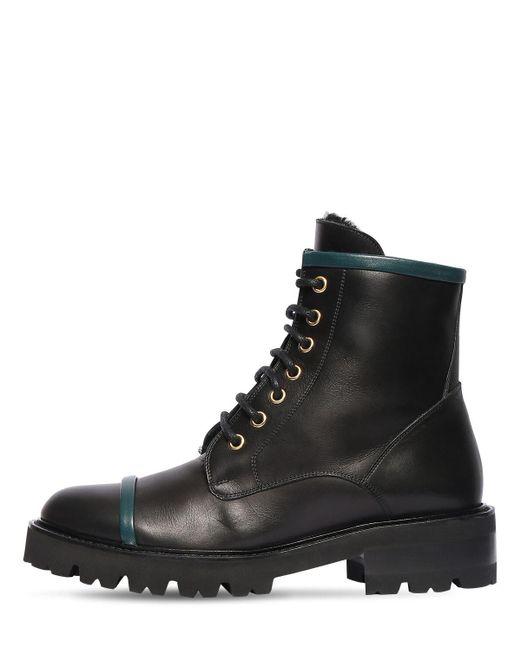 Кожаные Ботинки-комбат Bryce 30mm Malone Souliers, цвет: Black