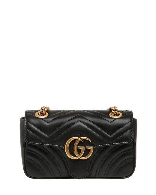 Gucci Gg Marmont 2.0 レザーバッグ Black