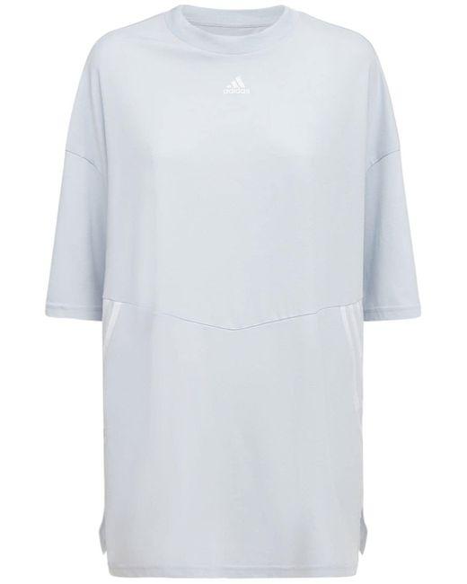 Adidas Originals オーバーサイズtシャツ Blue