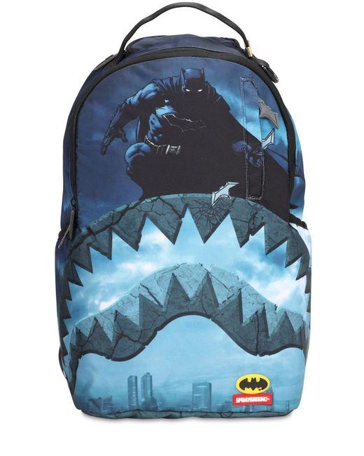 メンズ Sprayground Batman Shark ナイロンキャンバスバックパック Blue