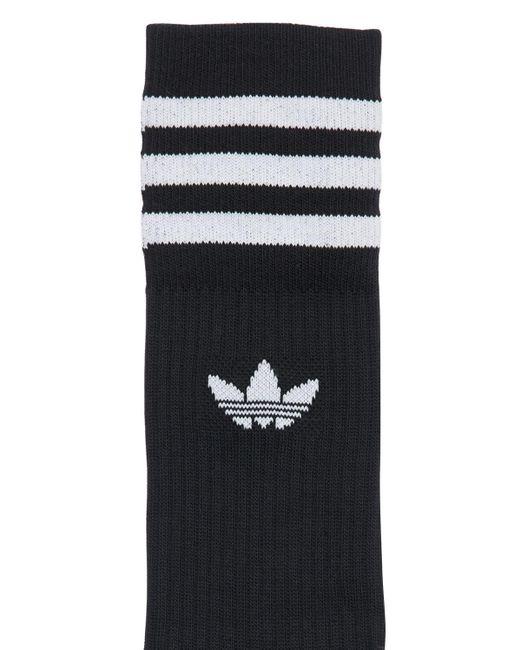 メンズ Adidas Originals ソックス 3足セット Black