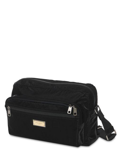 Сумка-кроссбоди Из Нейлона Dolce & Gabbana для него, цвет: Black