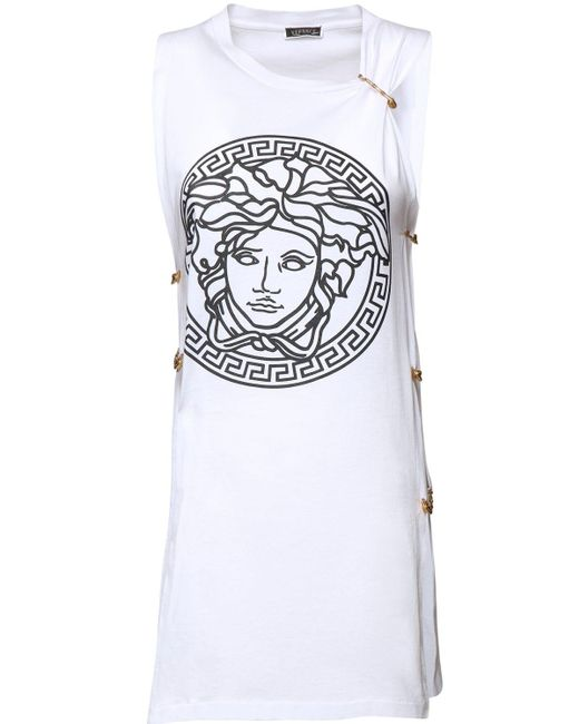 Versace ジャージーノースリーブtシャツ White