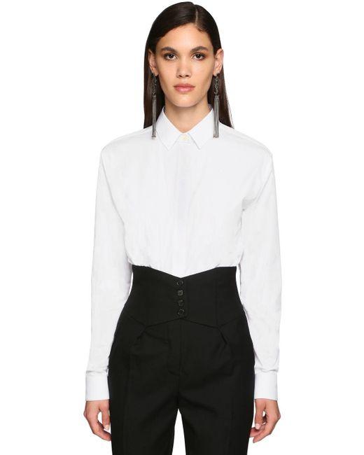 Saint Laurent コットンポプリンシャツ White