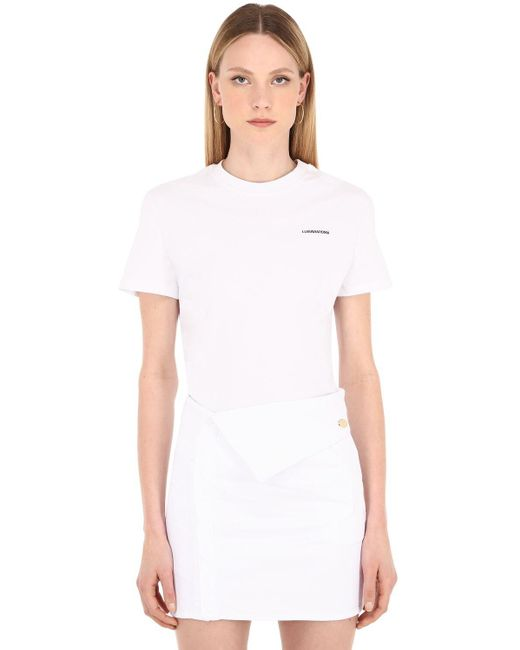 LUISAVIAROMA コットンジャージーtシャツ White