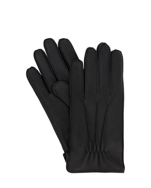 Кожаные Перчатки Mario Portolano для него, цвет: Black