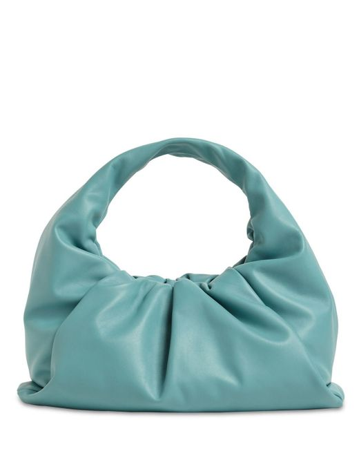 Кожаная Сумка The Shoulder Pouch Bottega Veneta, цвет: Blue