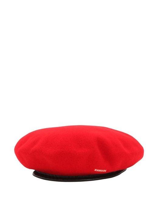 Kangol Monty ウールベレー帽 Red