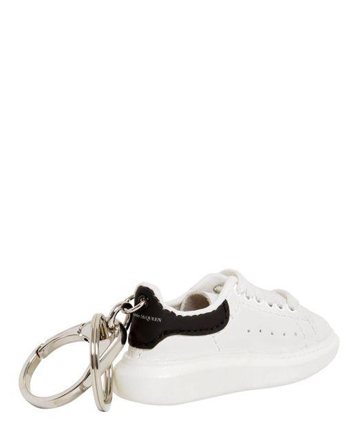 Alexander McQueen Sneakers Aus Leder Mit Velourslederbesatz Und Überstehender Sohle in White für Herren