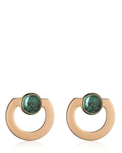 Vita Fede Moneta Open Stone Earrings Multicolor