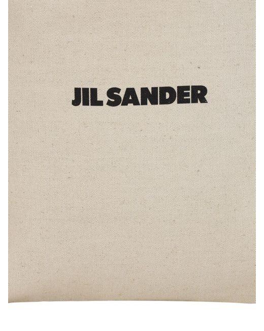 Jil Sander Flat キャンバストートバッグ Natural