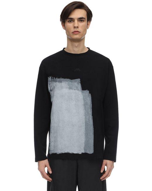 メンズ A_COLD_WALL* コットンジャージーtシャツ Black