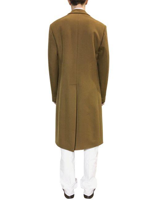 Пальто Из Кашемира И Шерсти Raf Simons для него, цвет: Brown