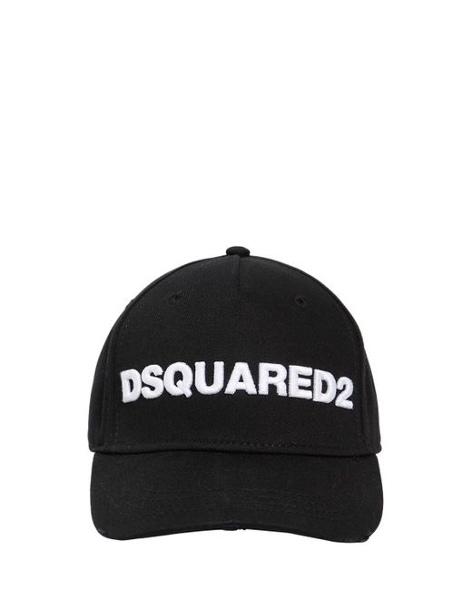 DSquared² コットンキャンバス 野球帽 Black