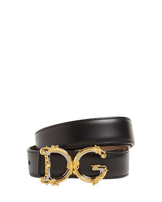 """Кожаный Ремень """"dg Baroque"""" 25мм Dolce & Gabbana, цвет: Black"""
