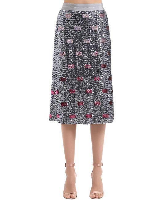 COACH スパンコールスカート Multicolor