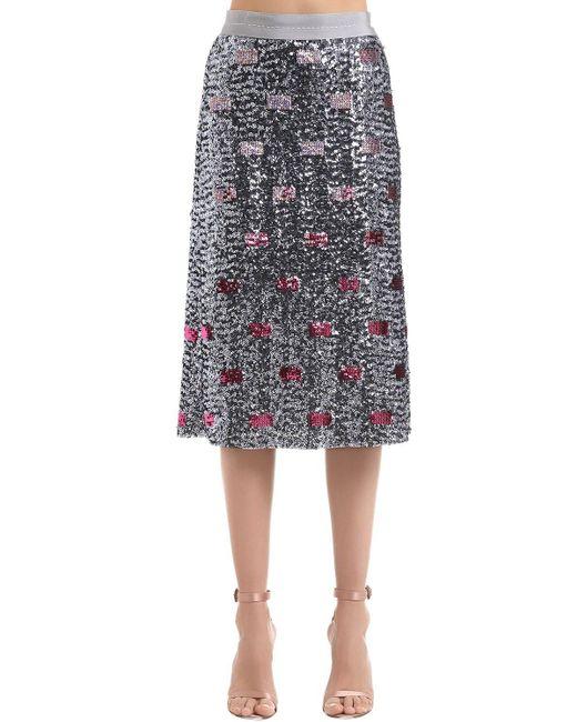 COACH スパンコールロングスカート Multicolor