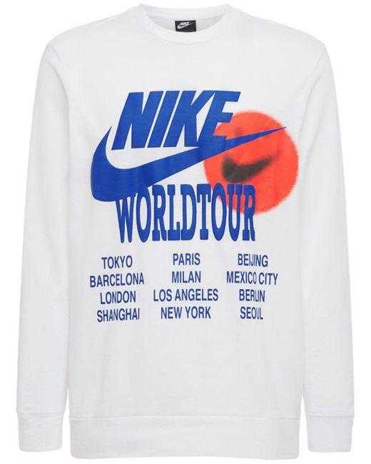 メンズ Nike World Tour Tシャツ White