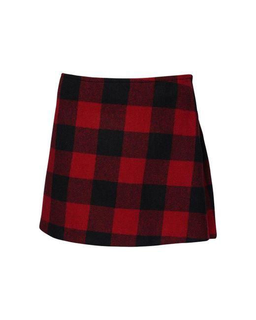 DSquared² ウールミニスカート Red
