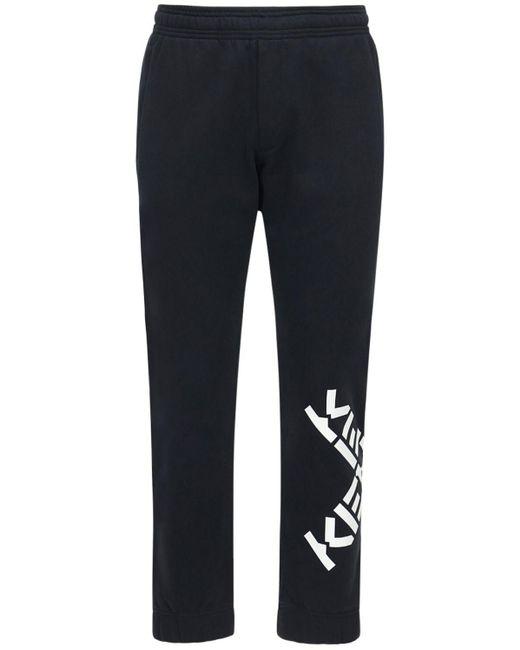 メンズ KENZO コットンブレンドスウェットパンツ Black
