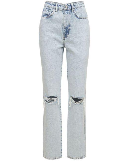 Alexander Wang Blue Jeans Aus Denim Mit Rissen