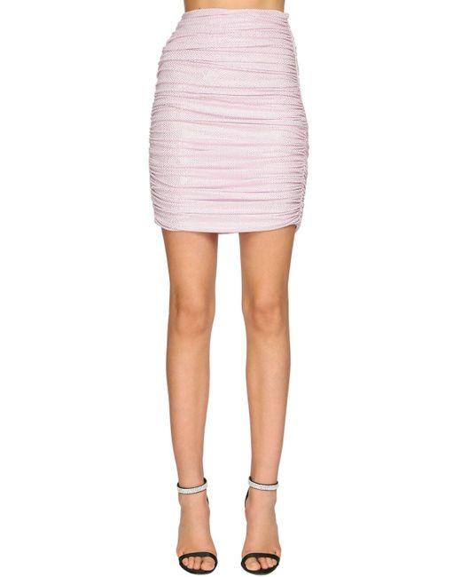 Юбка Из Джерси С Микро-стразами Alexandre Vauthier, цвет: Pink