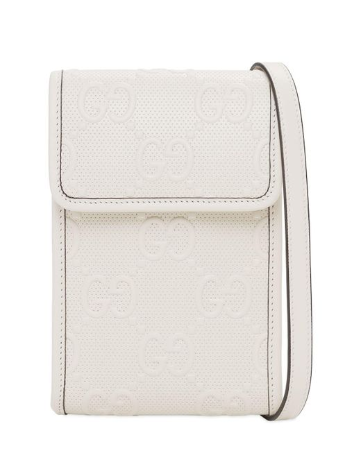 Кожаная Сумка Gg Gucci для него, цвет: White