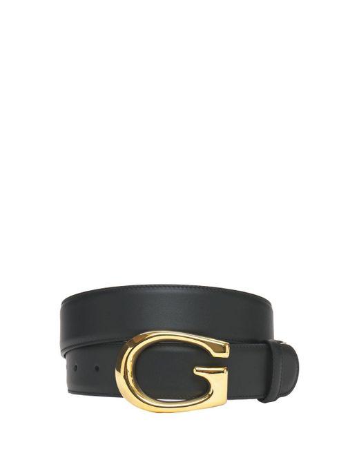 メンズ Gucci G レザーベルト 4cm Black