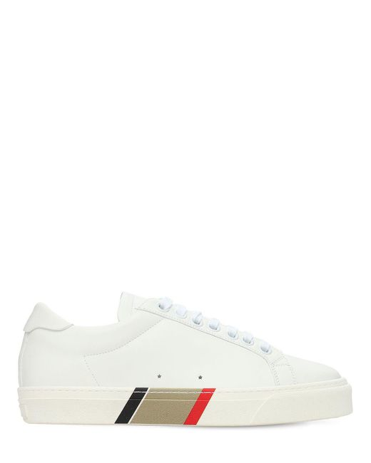 Кожаные Кроссовки Rangleton Burberry для него, цвет: White