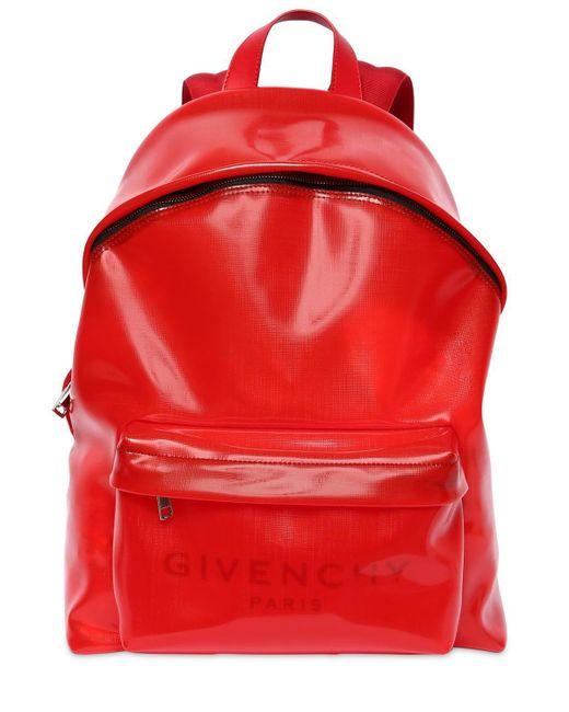 メンズ Givenchy ロゴバックパック Red
