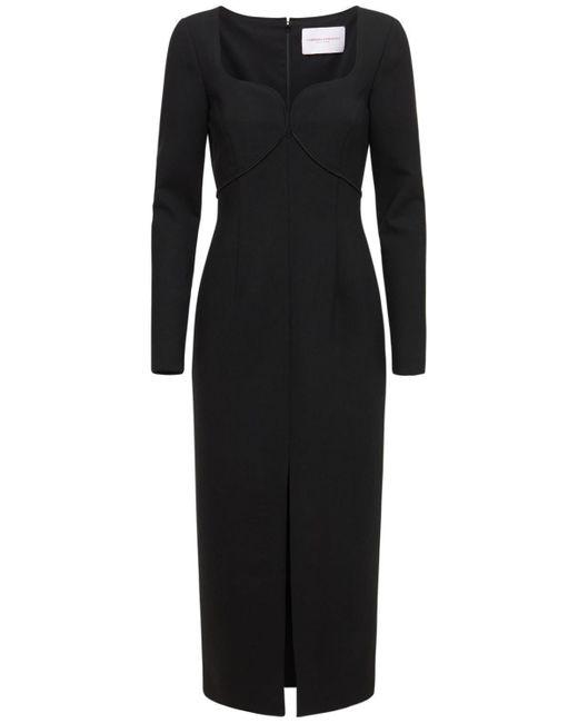 Длинное Платье Стрейч С Разрезом Carolina Herrera, цвет: Black