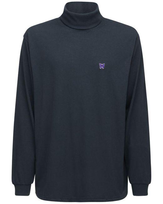 メンズ Needles テックジャージーtシャツ Black
