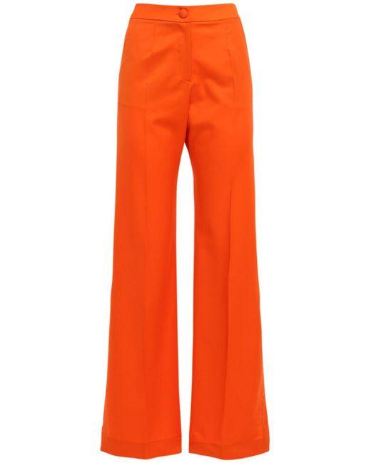 Matériel ウールフレアパンツ Orange