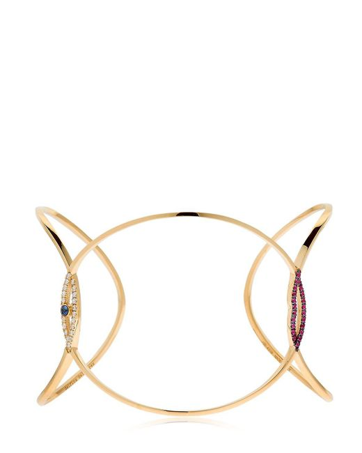 Delfina Delettrez | Metallic Eye Kiss You Earclipse Bracelet | Lyst