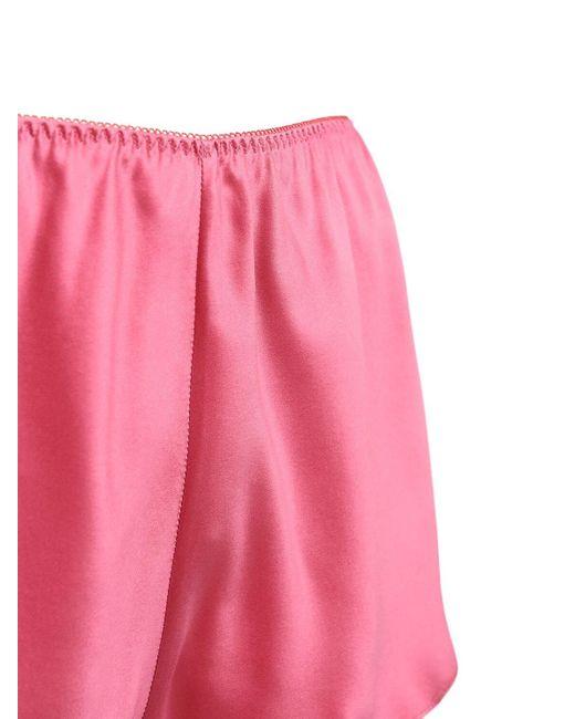Luna Di Seta シルクサテンショートパンツ Pink
